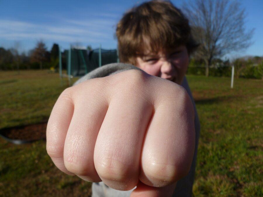 agresja u dziecka bicie