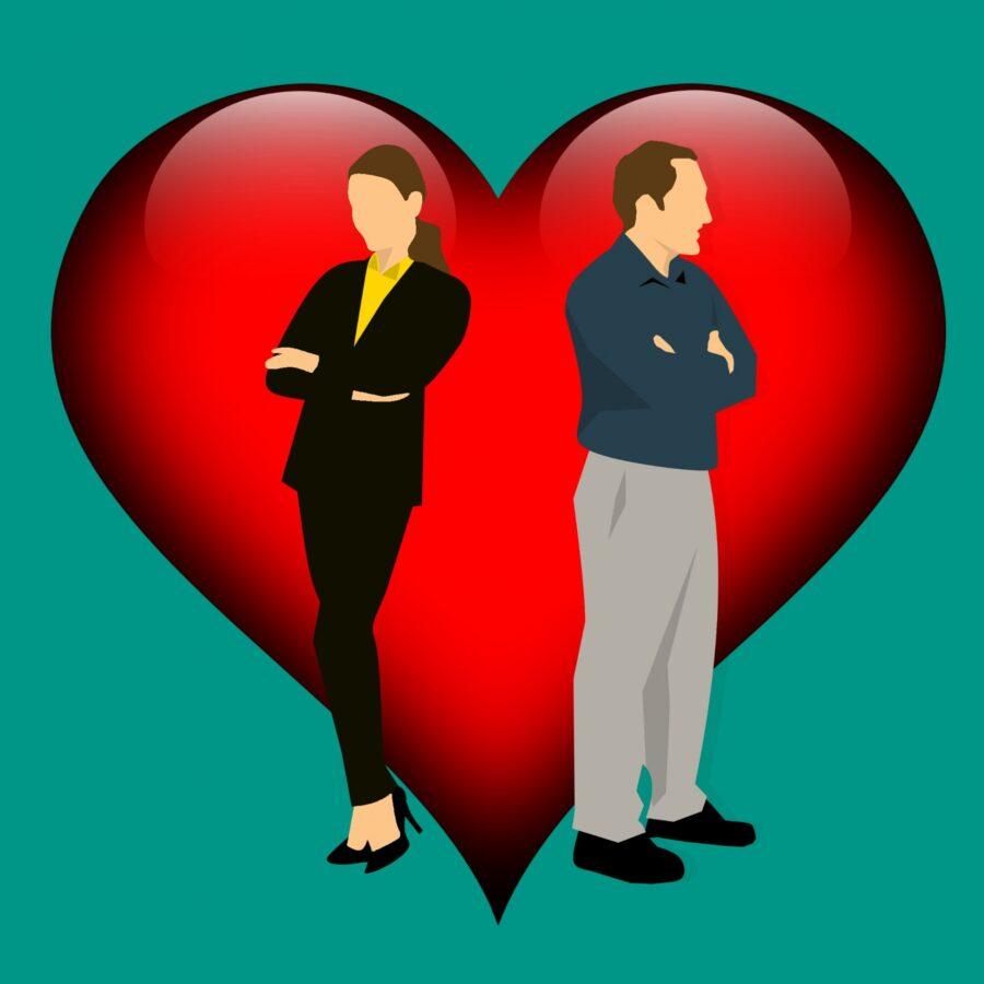 miłość serce kłótnia para terapia malżeńska