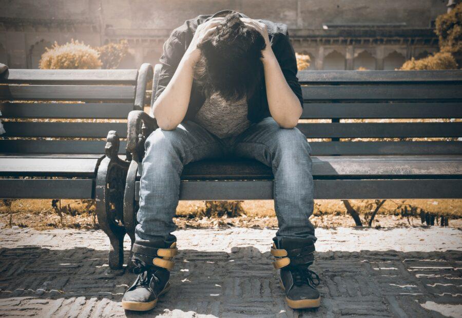 stres strach człowiek w stresie