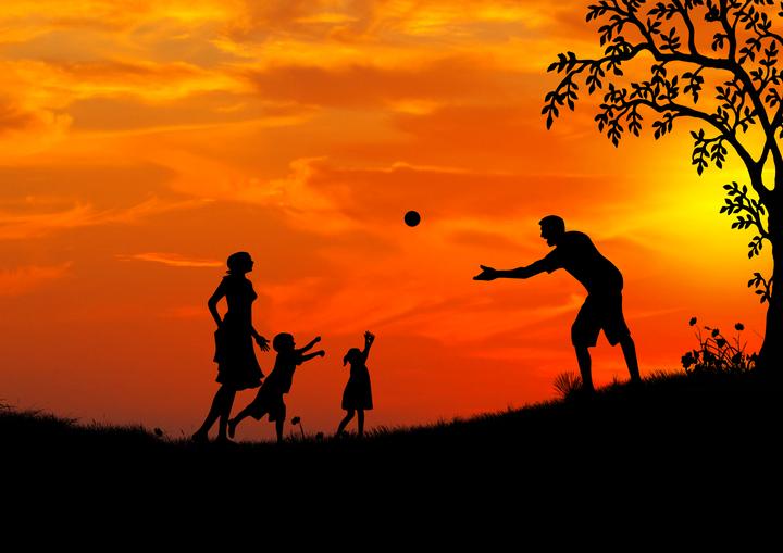 rodzina zabawa dzień dziecka