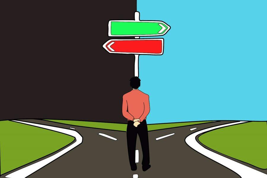 wybór planowanie rozdroże